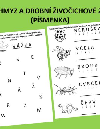 Hmyz a drobní živočichové 2 - písmenka