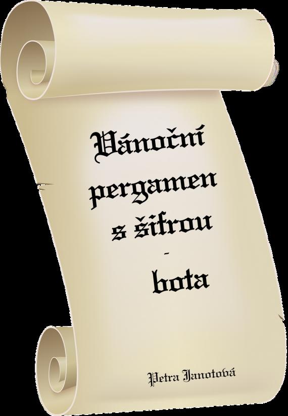 Vánoční pergamen s šifrou - bota